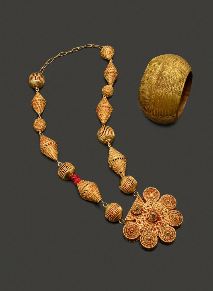 Collier Peul, Mali Bracelet Baoulé, Côte d'Ivoire